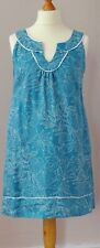 Laura Ashley size 12 turquoise / teal sleeveless linen summer dress