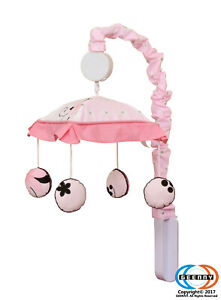 New Pink Butterfly Musical Mobile By GEENNY