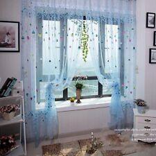 Blau Ballon Vorhang Fadenvorhang Gardine Gardine Schlaufen Curtai Fenstervorhang