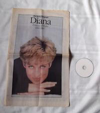 Princess Diana Tribute Large Daily Telegraph Newspaper Photos UK hard to find
