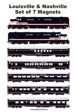 Louisville & Nashville Passenger Train 7 magnets Andy Fletcher