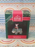 HALLMARK Keepsake 1991 PIGLET AND EEYORE Winnie The Pooh CHRISTMAS ORNAMENT New