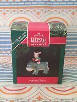 HALLMARK Keepsake 1991 PIGLET AND EEYORE Winnie The Pooh CHRISTMAS ORNAMENT New