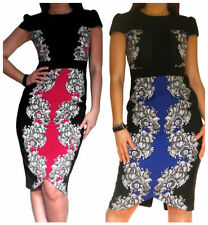 Wiggle/Pencil Machine Washable Floral Dresses for Women