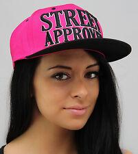 Snapback Coperchi, Hip Hop Baseball Street Piatto Picco Aderente Cappelli, Unisex Bling Rosa