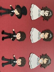 Wedding Theme Die Cuts 30 Plus Mixed And Bride And Groom Card Toppers #142