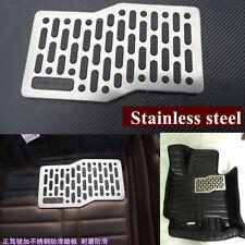 Car Floor Mat Carpet Pad Plate Pedal Foot Rest Stainless Steel Heel w/ 6 screws