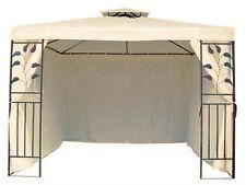 45610 Beige 4 Seitenteile Seitenwände für 3x3 Pavillon Pavillion Metall Beige