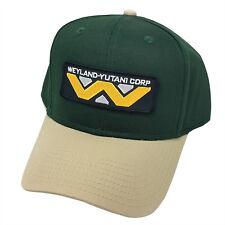 ALIEN Movie Weyland Yutani Corp Sci Fi Patch Khaki Green Snapback Cap Hat