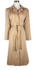 VINTAGE Trench Coat - 1970s Long Jacket Retro Tie Belt Beige Camel Button - 8/10