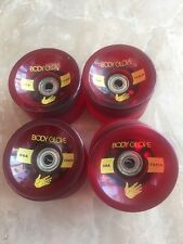 Body Glove Longboard Slide Wheels 70mm 80a A-Abec 5 Bearings In New