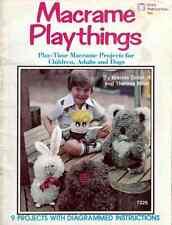 MACRAME PATTERNS Toys KOALA BEAR Golf TENNIS COVERS Rabbit MONKEY