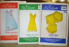 New Listing3 Vtg 60s Sew Lovely Lingerie Sewing Patterns Panties, Nightgown, Full Slip