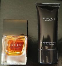 Gucci Pour Homme Men's Set: 50ml/1.7oz EDT Spray + 50ml/1.7oz Shampoo Gift Boxed