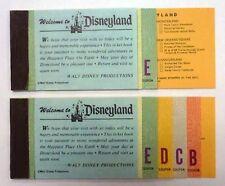 {BJSTAMPS} 2 Disneyland Adult ticket coupon booklets original  1970's