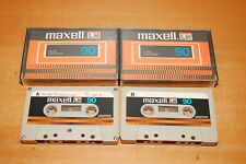Vintage Used MAXELL LN 90 Blank Recordable Cassette Tape Lot of 2