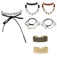 Women Multilayer Crystal Rhinestone Collar Choker Necklace Wedding Party Jewelry