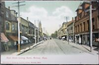 Melrose, MA 1907 Postcard: Main Street, North - Massachusetts Mass