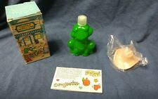 1982 Nib- Avon- Huggable Hop along Frog- Cologne- Sweet Honesty- Cowboy