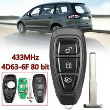 3 Buttons Remote Key Fob 433MHz Replacement For Ford B-Max C-Max #KR55WK48801