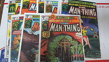 from JLA DC comic lot man-thing 1979 1 2 3-11 near full series fn bag boarded