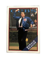 Ronald Reagan First Pitch Chicago Cubs Trading Card 1988 Topps President