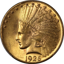1926 Indian Gold $10 PCGS MS64 Great Eye Appeal Fantastic Luster Strong Strike