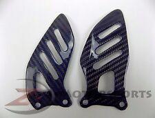 2006-2010 GSXR600 GSXR750 Rearset Foot Peg Heel Guards Carbon Fiber Blue