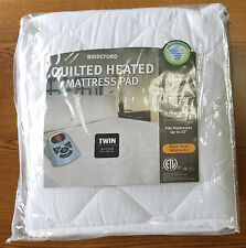 BIDDEFORD QUILTED HEATED MATTRESS PAD - TWIN SIZE - NEW