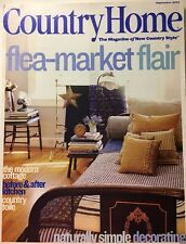 COUNTRY HOME MAGAZINE ~SEPTEMBER 2001~FLEA MARKET FLAIR~TURN OF THE CENTURY~