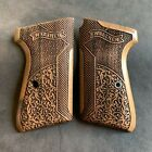 Walther PPK/S Turkish Walnut Wood Grips Set. Handmade. Fits S&W PPK/S. Authentic
