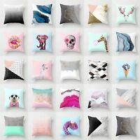 Modern Polyester Abstract Animal Pillow Case Cover Sofa Waist Cushion Cover New