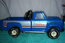"Tonka Pickup Truck /w Side Pipes And Working Tailgate Press Steel 14 1/2 "" Long"