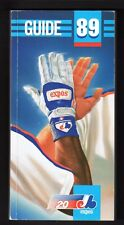 1989  MONTREAL EXPOS  MEDIA PRESS GUIDE  EX-MINT