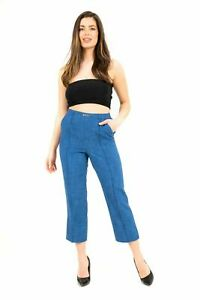 Ladies Summer Elasticated Classic Cut Trousers Ladies Casual Work Pants Stretch