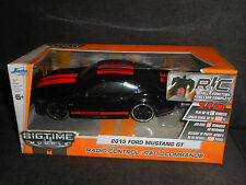 BIG TIME MUSCLE JADA R/C 2015 FORD MUSTANG GT RADIO CONTROL TOY CAR BLACK RACING