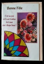 "F5)Carte ""Bonne Fête"" + enveloppe Rose - Neuf"