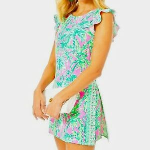 NWT Lilly Pulitzer Adda Romper Dress in Prosecco Pink R$188 Size 6