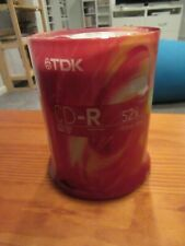 NEW TDK  CD-R 52X 80 Min 700 MB/MO Blank Recordable Discs 100 Tall Spindle Pack