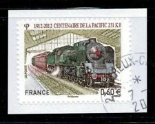 2012 N 711 TRAIN LOCOMOTIVE PACIFIC ADHESIF OBLITERE CACHET ROND