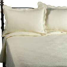 Matelasse Coventry Coverlet Set - Ivory - Size: Twin