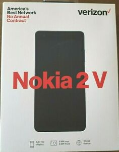 Verizon Nokia 2 V Prepaid Cell Phone Smartphone 2V No Credit Check TA-1136 NEW