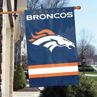 "Denver Broncos 44"" x 28"" Applique and Embroidered 2-Sided Flag/Banner"