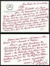 BRASSAÏ Carte autographe signée. Son exposition américaine / Sa légion d'honneur