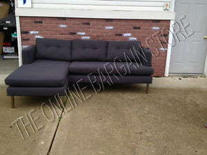 Pottery Barn West Elm Jackson Sofa Couch sectional chaise iron basketweave