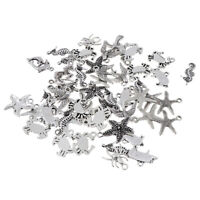 50pcs Charm Beach Theme Animal Pendant Bead for DIY Jewelry Making Accessory