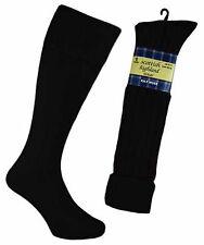 Mens 65% Wool Blend Traditional Long Hose Kilt Socks