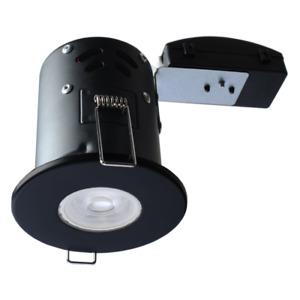 GU10 240V FIXED FIRE RATED RECESSED DOWNLIGHT MATT BLACK LIGHT LAMP