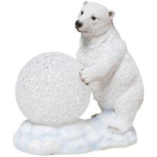 Eisbär mit LED Kugel