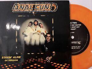 "Anal Cunt – Stayin' Alive (Oi! Version) 7"" Single 1994 Earache - Orange Vinyl"